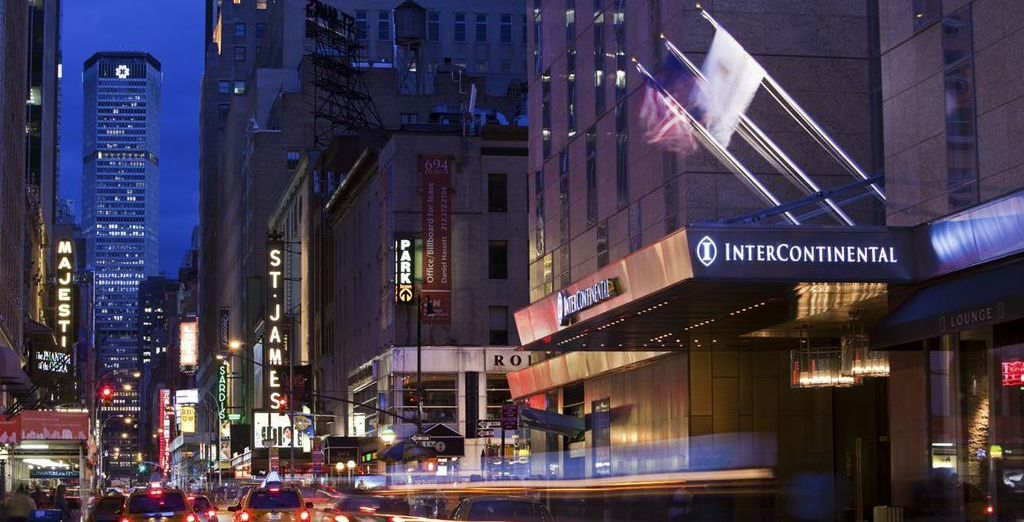 Stay in the heart of the action, at the Intercontinental Times Square Hotel