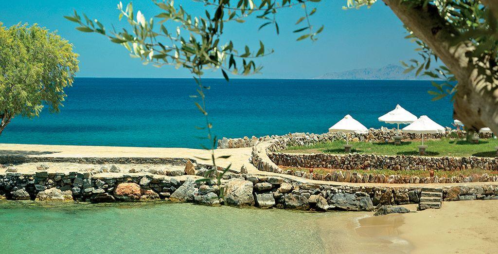 Bathe on the private stretch of beach