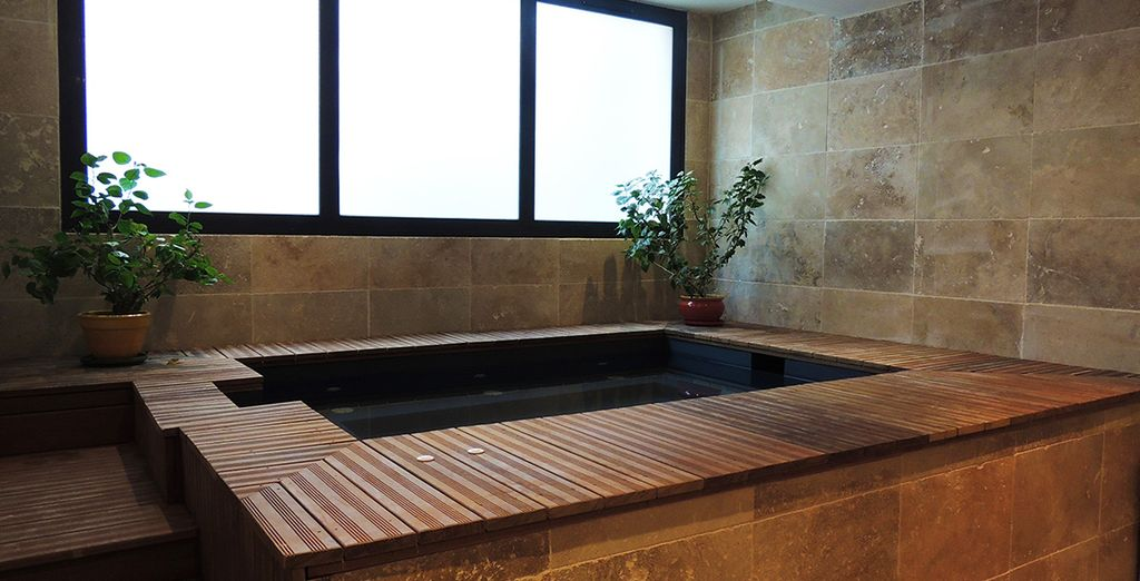 Upon your return, relax in the warm waters of the Spa