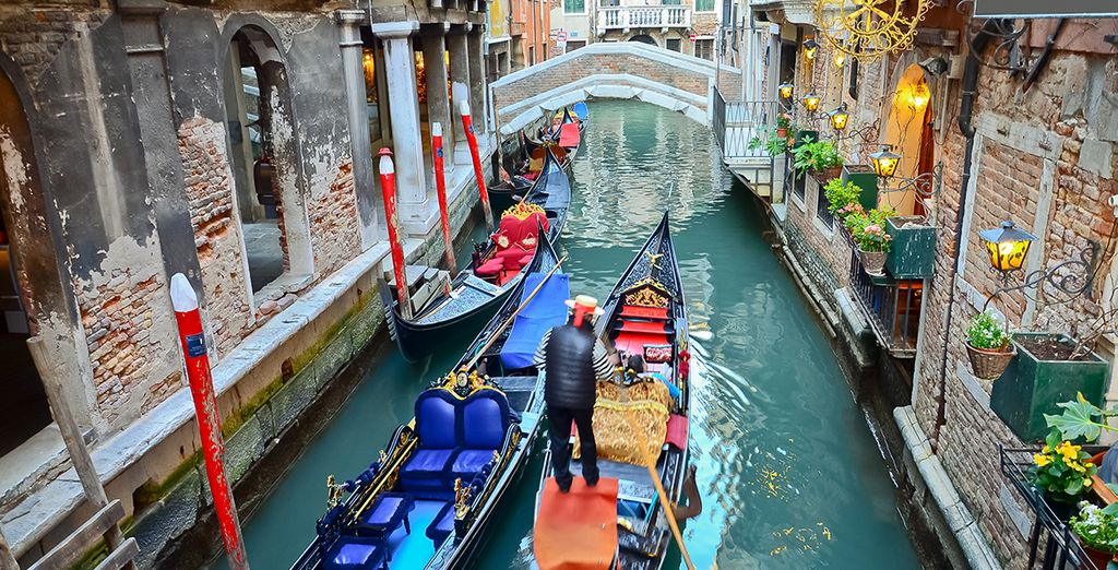 Go on a gondola ride to see the romantic city the way you were meant to