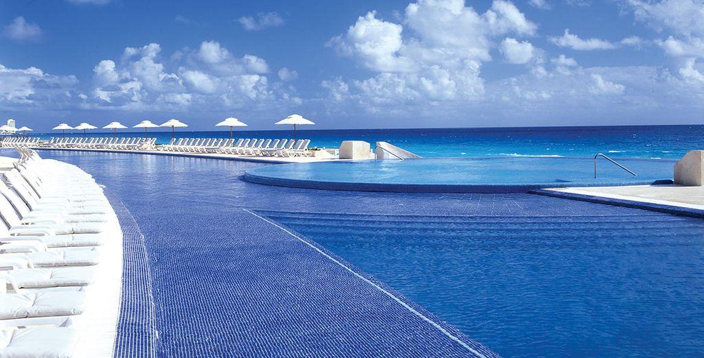 Awake to spectacular views of the sparkling Sea - Live Aqua Cancun 5* Cancun