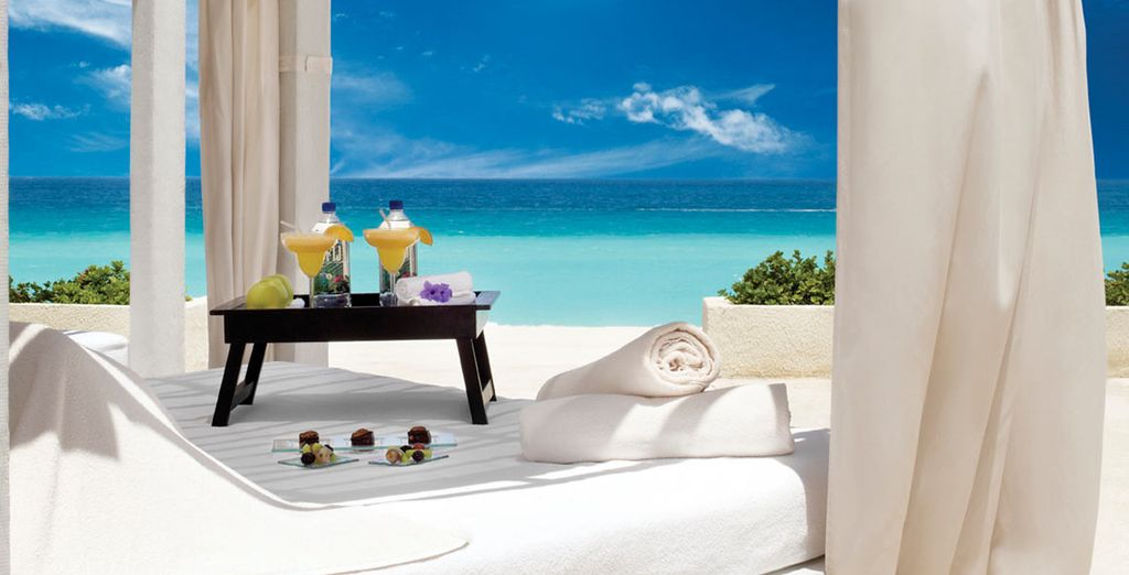 Relax on a shaded daybed - Live Aqua Cancun 5* Cancun