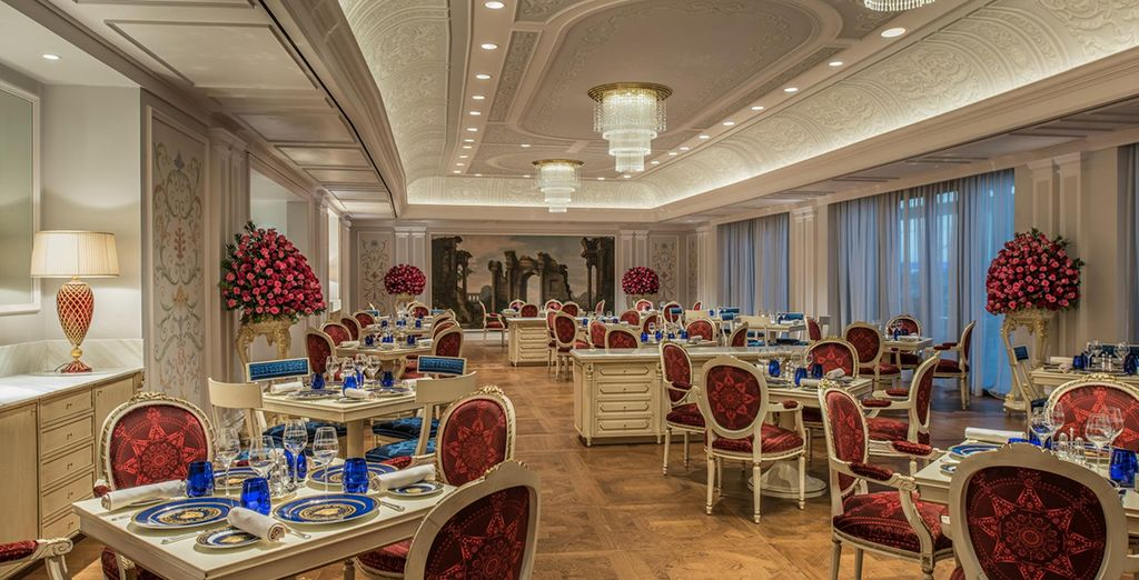 Dine amongst the art-lined rooms