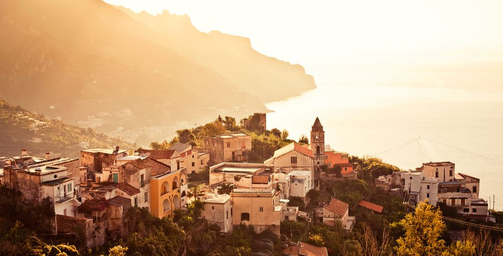 Stop by the medieval town of Ravello, known for its fantastic views