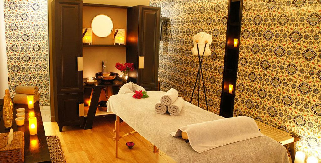 Or a relaxing massage at the spa