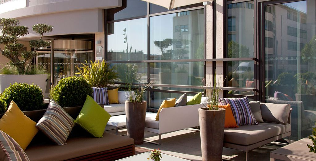 Featuring a sun-kissed terrace