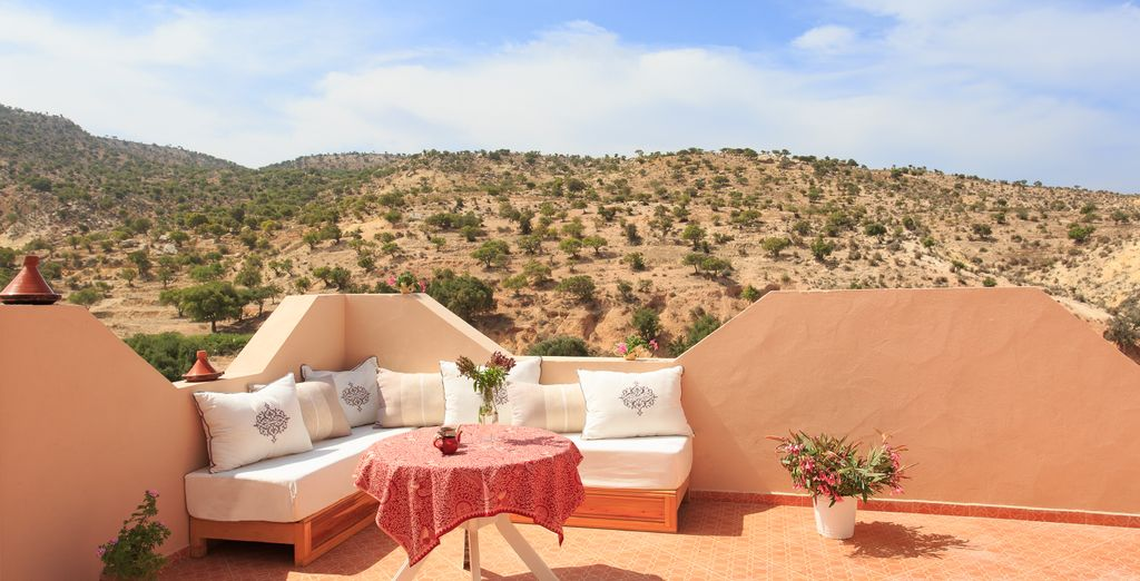 This boutique riad offers wonderful views over the surrounding countryside