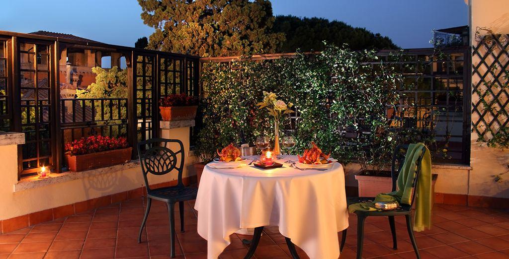 Enjoy a romantic dinner on the terrace
