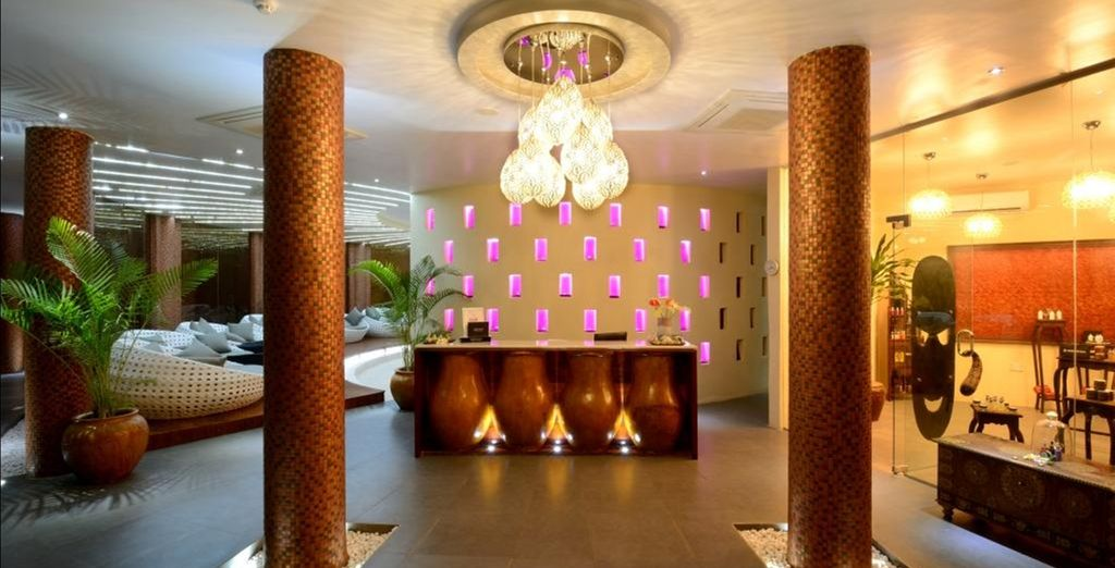 Be pampered in the divine spa...