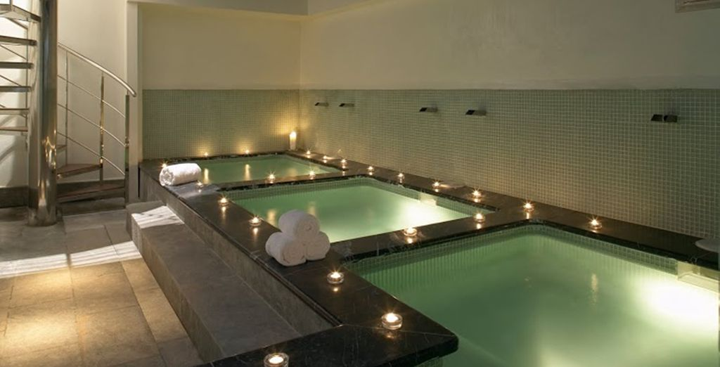 Relax after sightseeing with a trip to the hotel's spa