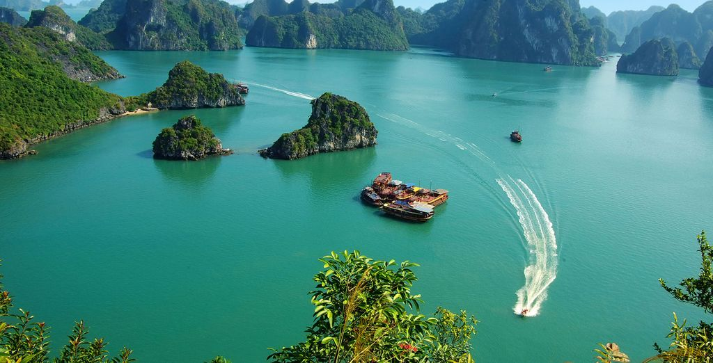 Afterwards, head to the emerald waters of Ha Long Bay