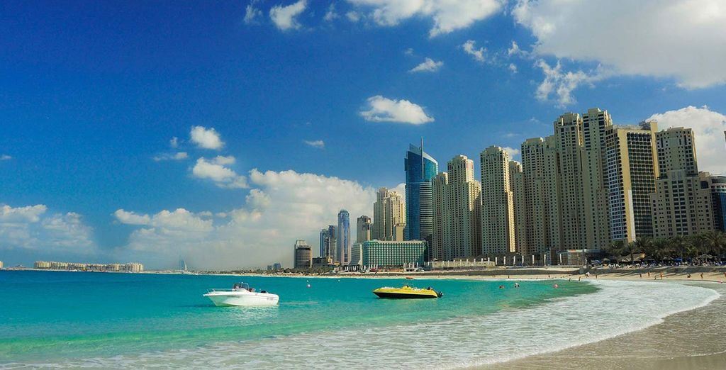 Set off for the city - you're just a few miles from Jumeirah beach