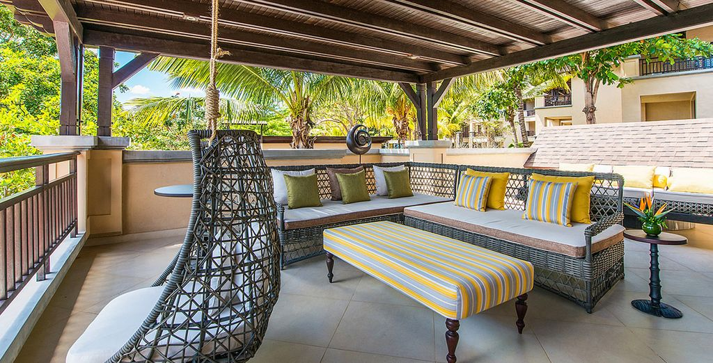 With private terrace boasting Indian Ocean views