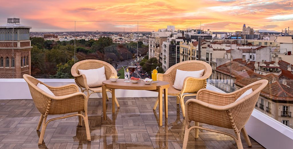 Or admire the sunset from the terrace