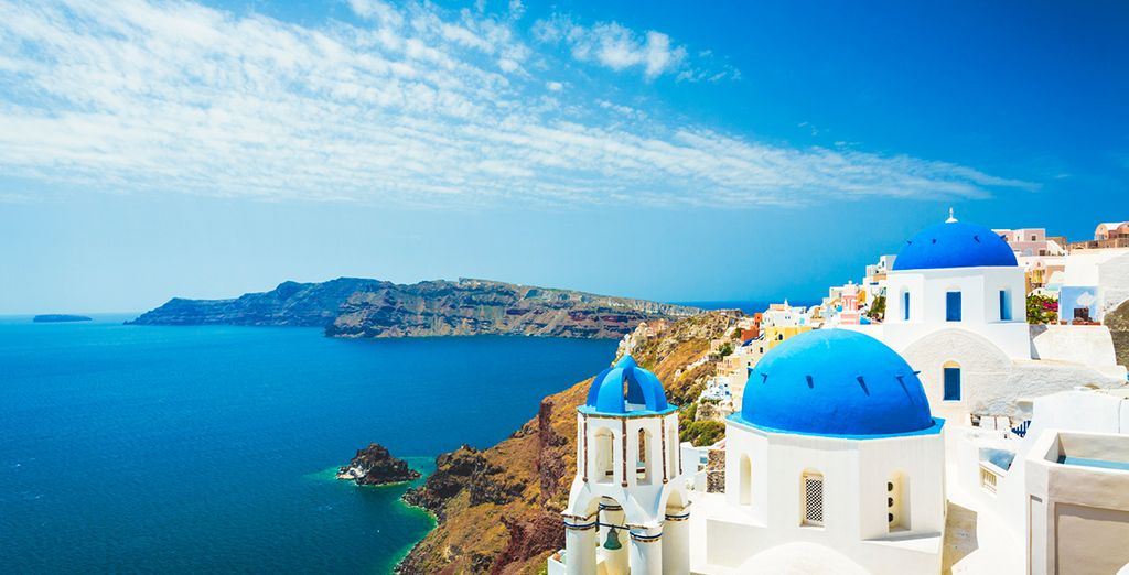 You can also discover romantic Santorini - famed for its blue domed churches...