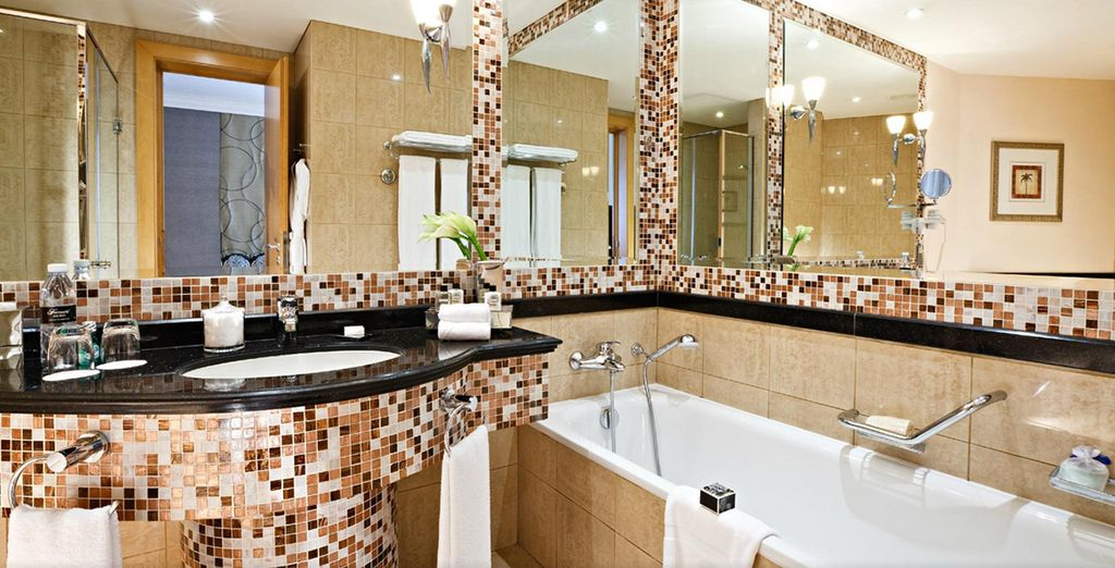 Complete with lavish bathroom