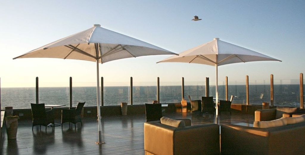 End your day with drinks on the terrace