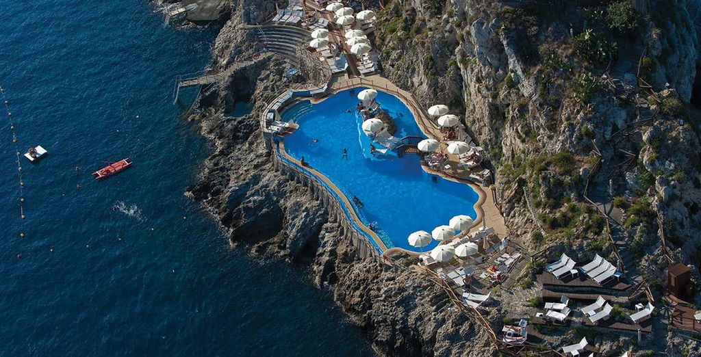 Marvel at the spectacular views of the azure waters