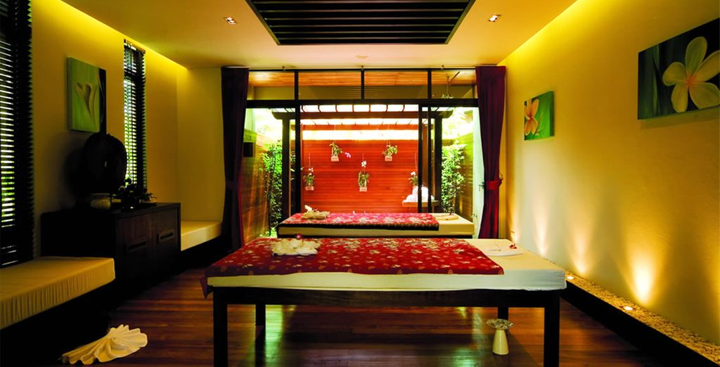 We've include a relaxing massage at the spa for you
