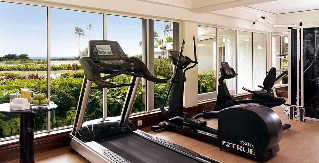 Work out with a view of the sub-tropical gardens
