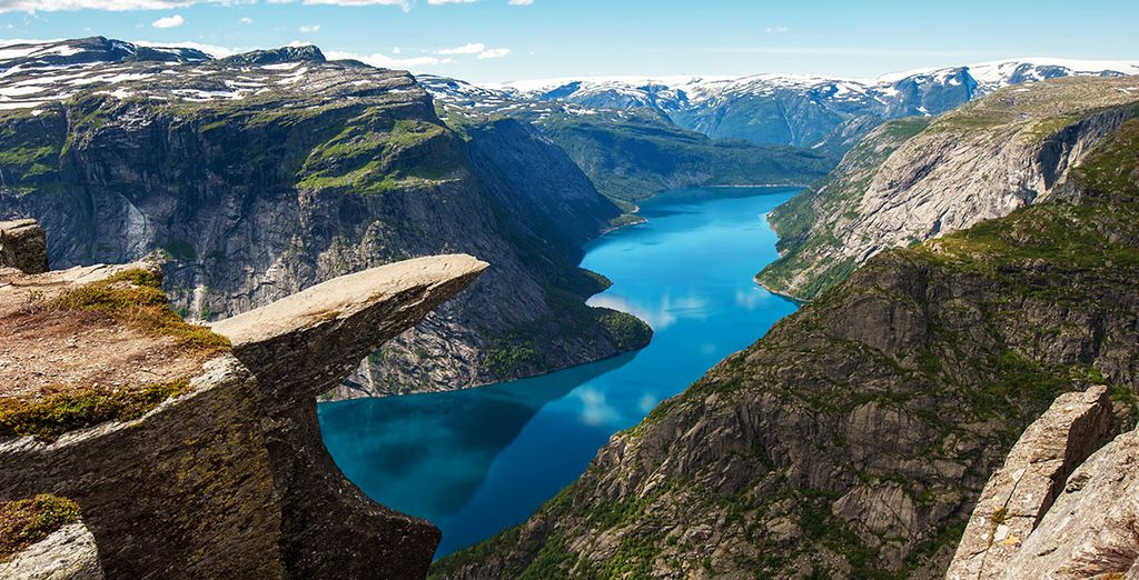 Marvel at the breathtaking views from Pulpit Rock...