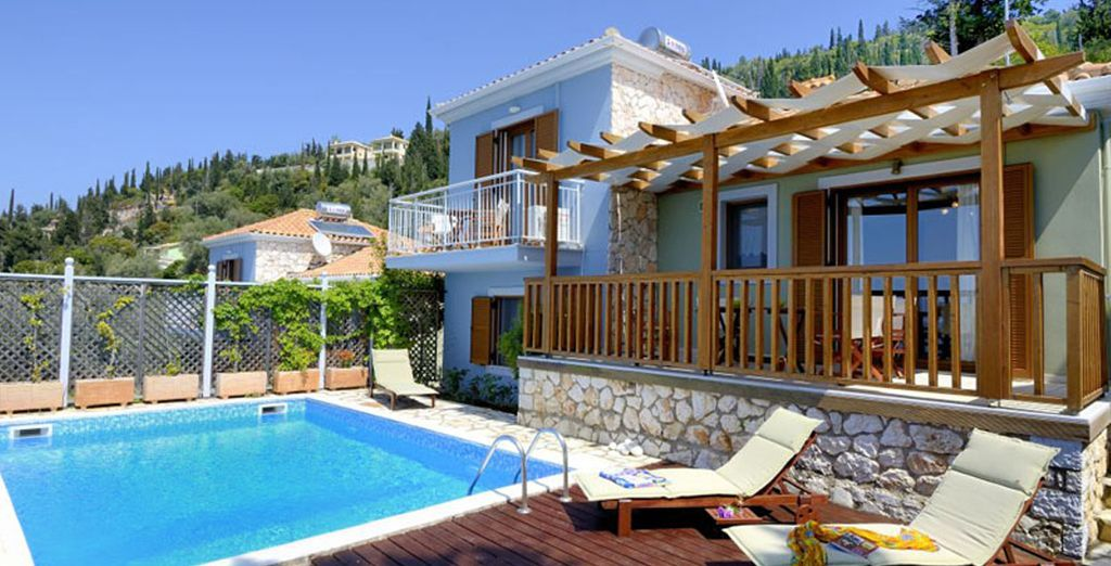 Where you will stay in a gorgeous villa