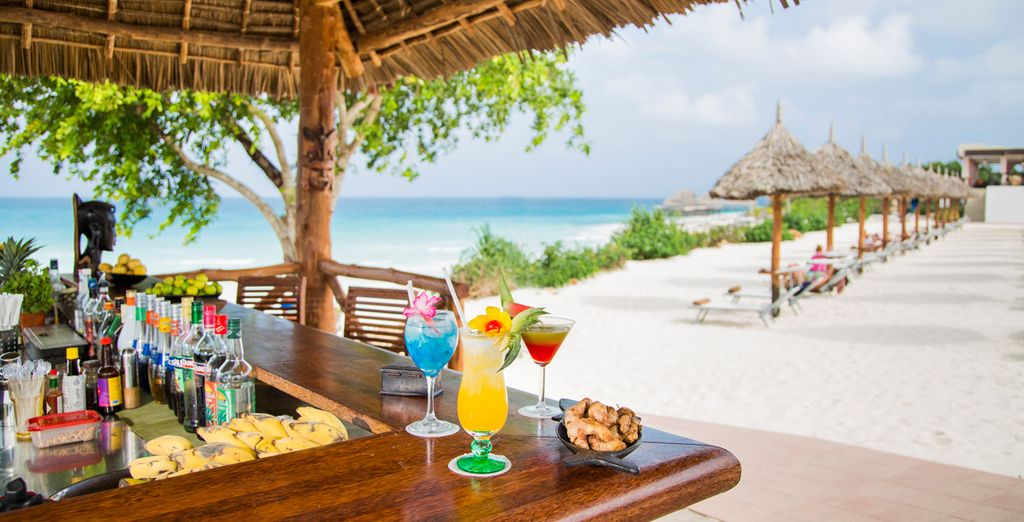 Where you can drink in the tropical atmosphere