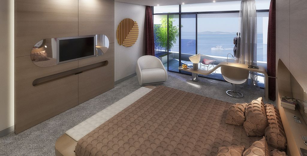 To a Superior Room with a Sea View