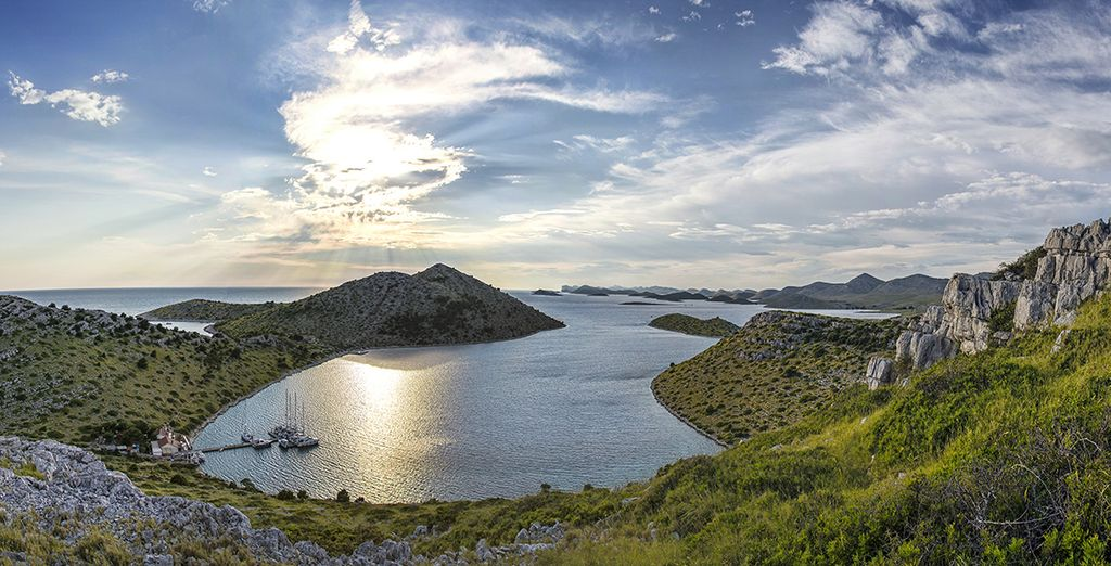 And the islands of Kornati National Park are a 30 minute boat trip away