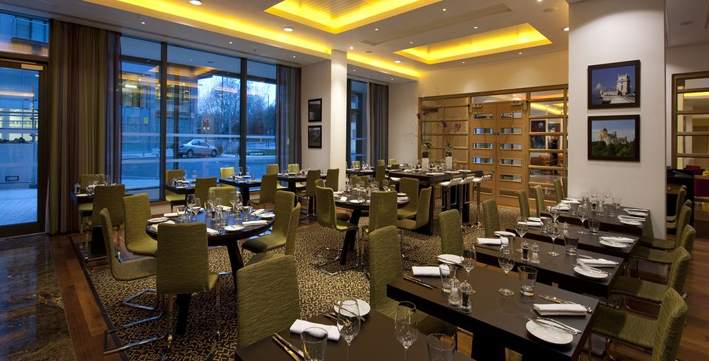 And dine well in sophisticated surroundings