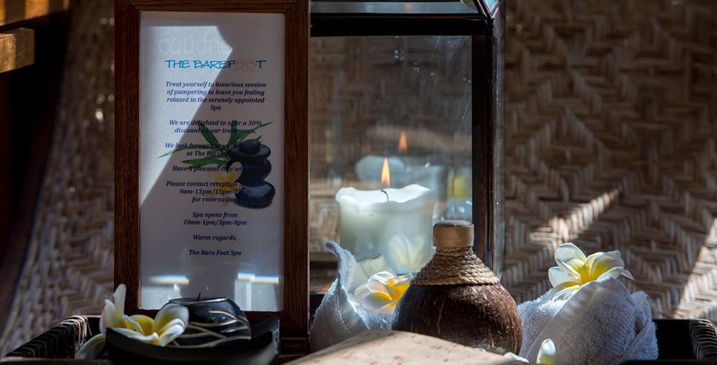 Treat yourself at the luxurious Spa