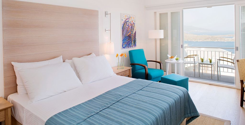 You bright and airy luxury room awaits...