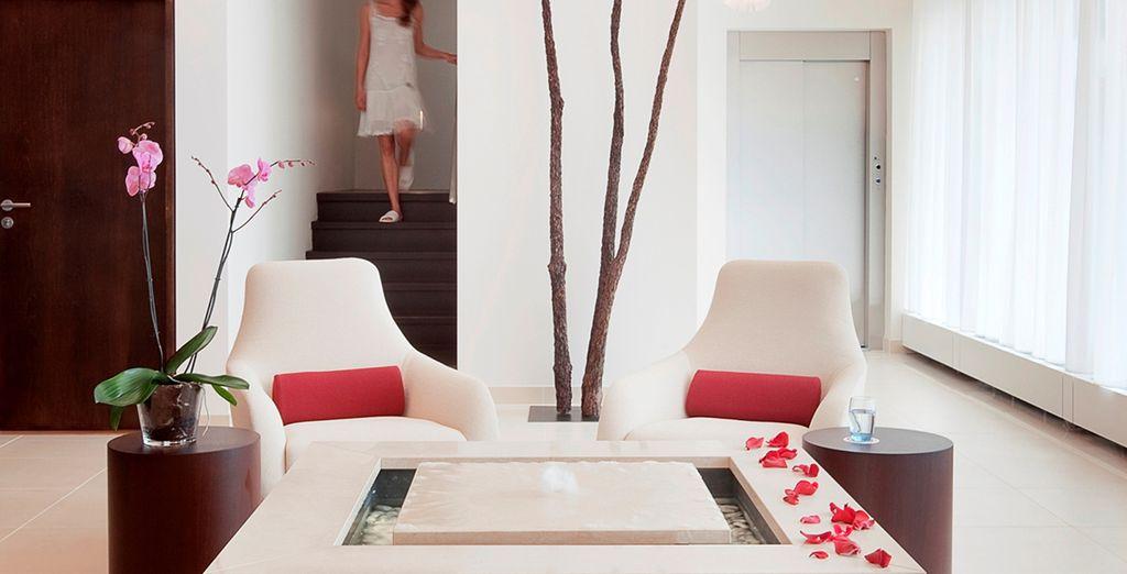Admire the chic, minimalist design