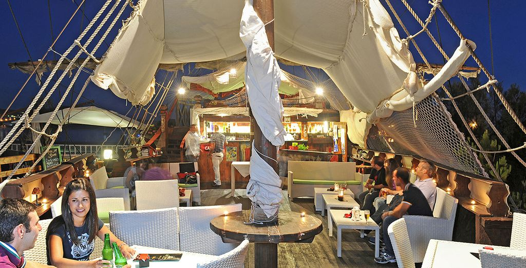 Or head to the local sail boat for a unique bar experience!