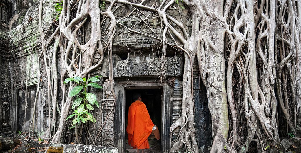 In Siem Reap, with its crimson-robed monks