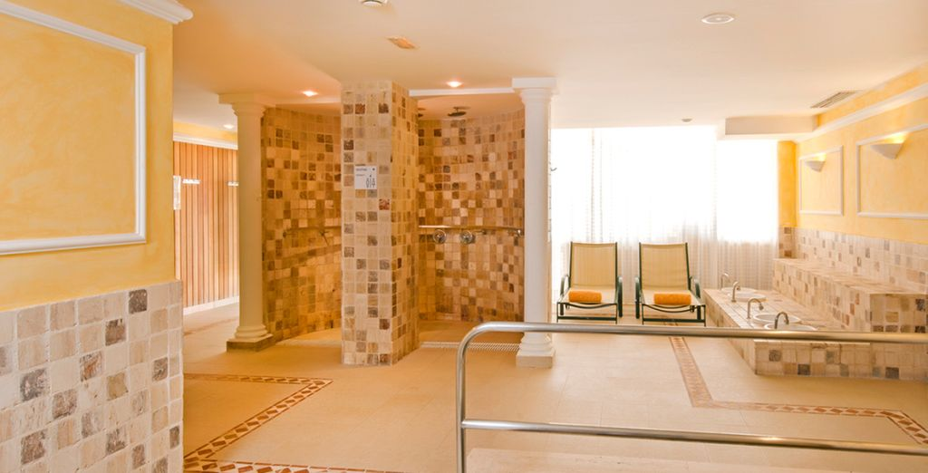 Or escape the heat and head for the spa