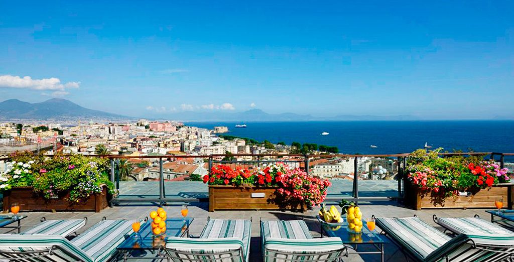 Take in the breathtaking views of the Bay of Naples