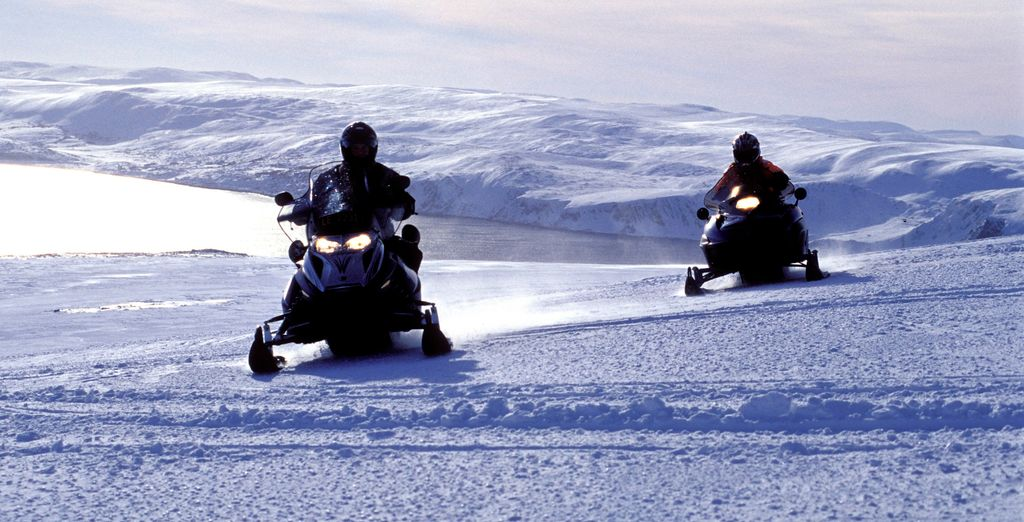 Thrilling snowmobiling