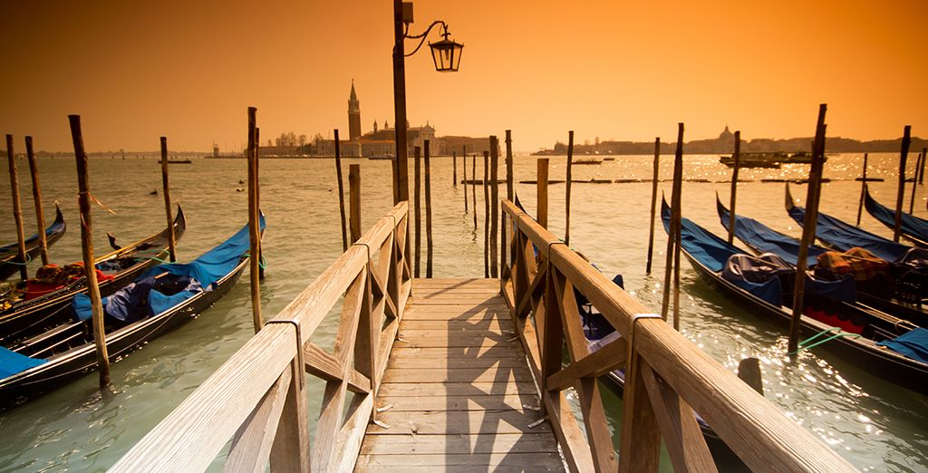 Perhaps take a romantic gondola ride as the sun sets...