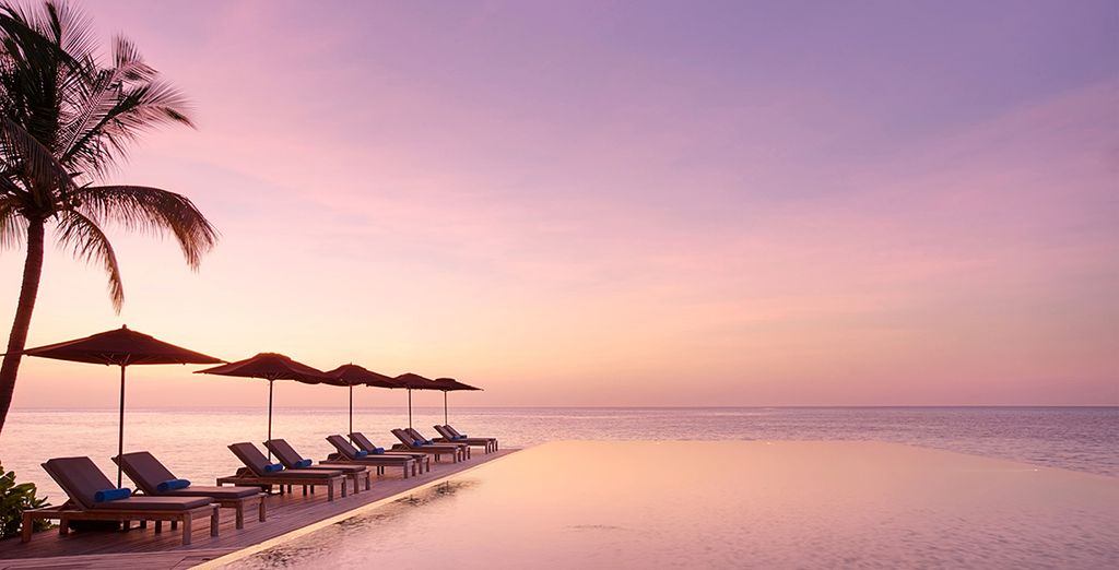 Enjoy a complimentary sunset cruise