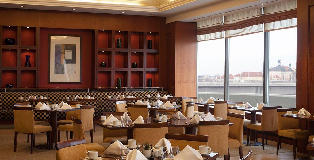 Ending your day in the elegant restaurant