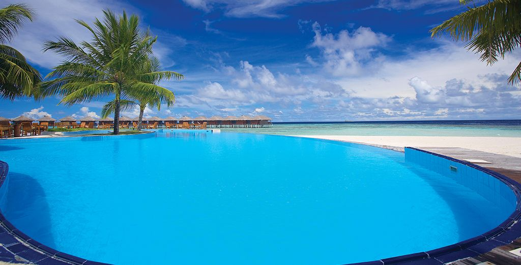 Spend your days soaking up the sunshine by the pool...