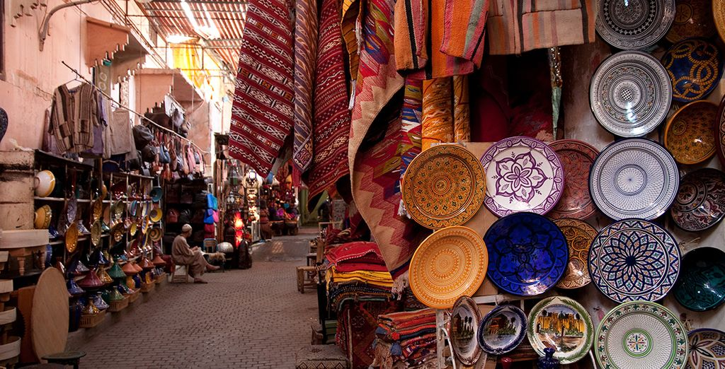 Head into the bustling medina