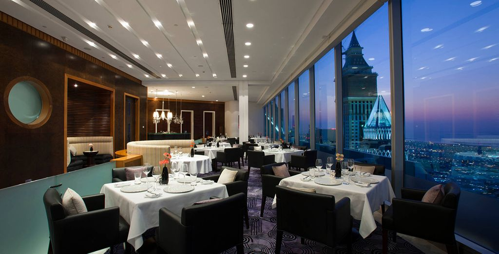 The hotel boasts a number of fantastic restaurants