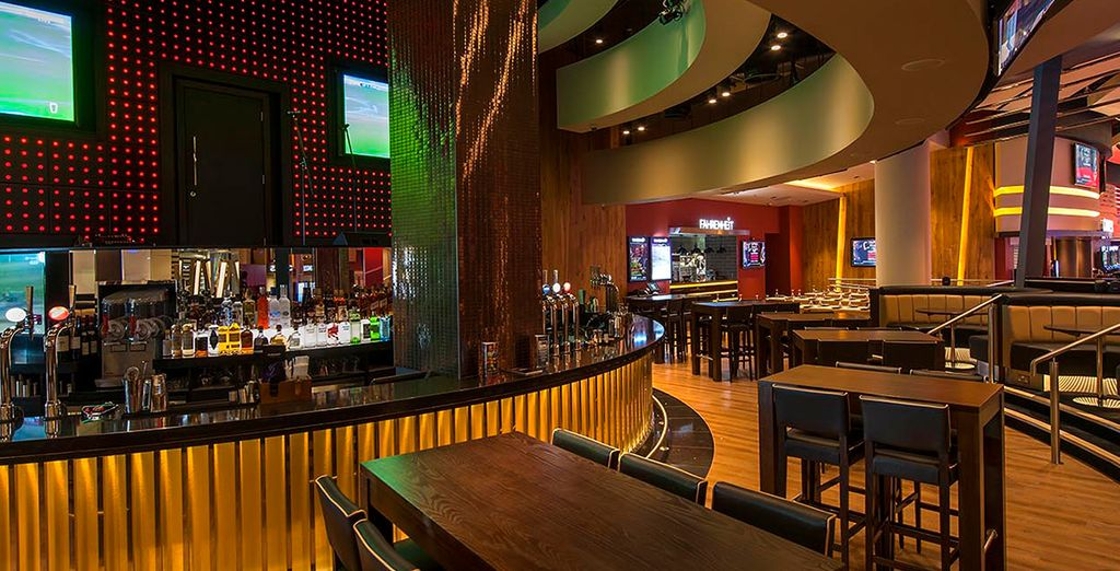 Don't miss a minute of the action at the Sports Bar