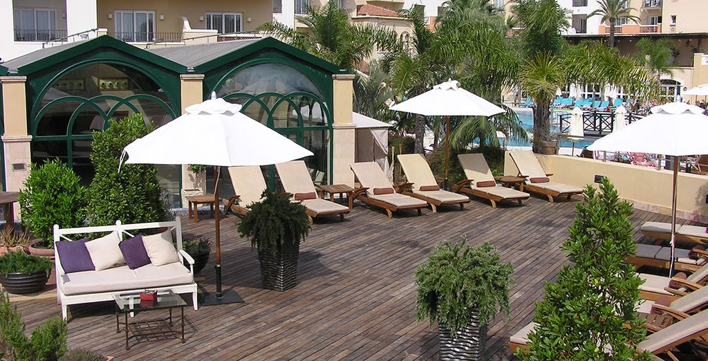 Take in the lush surroundings from the terrace