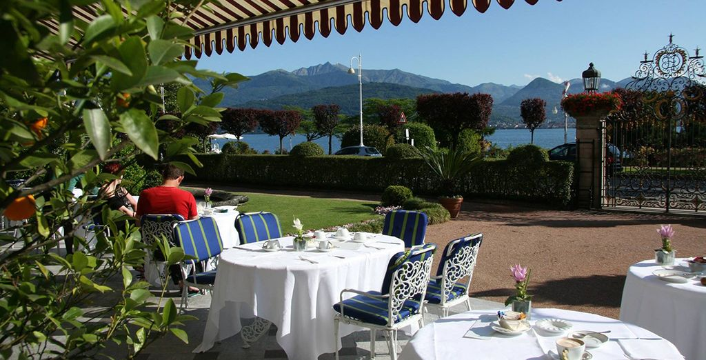 Take your breakfast out on the terrace