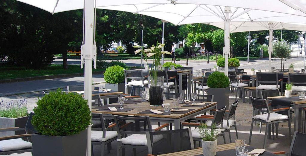 Enjoy an al fresco breakfast on the terrace