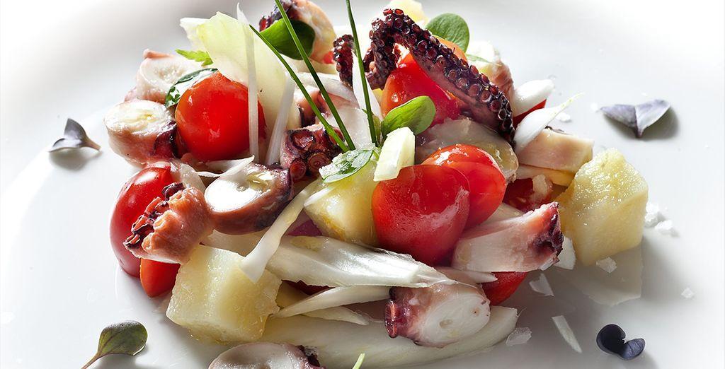 Sample delicious cuisine