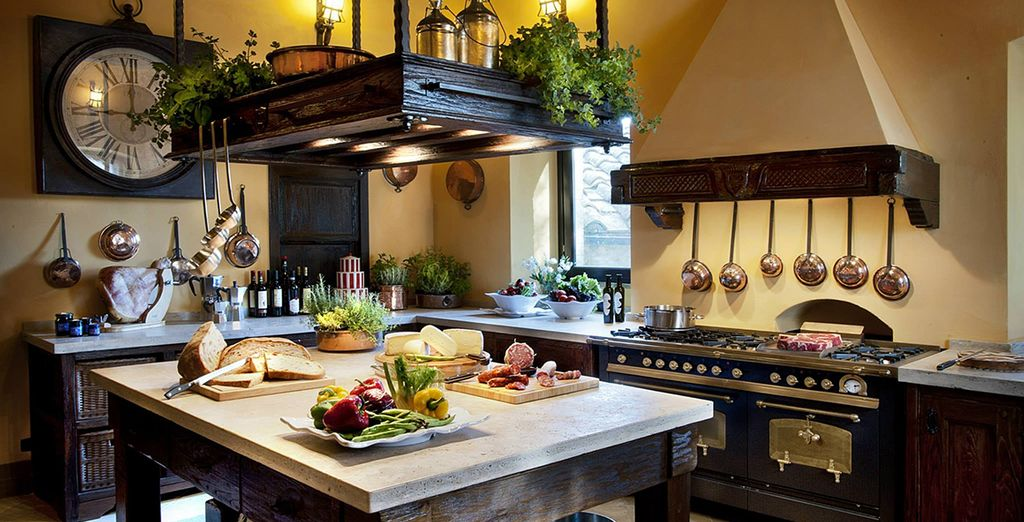 Prepared in a typical Tuscan kitchen
